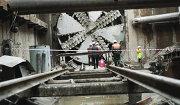 Проходческий щит на строительстве линии метро
