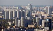 Вид на Москву с верхнего этажа МГУ