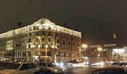 """Московская гостиница """"Националь"""" вечером"""