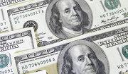 Денежные купюры и монеты разных стран, доллары, деньги