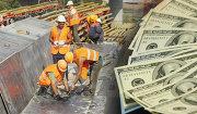 стройка, строительство, рабочие, деньги, доллары