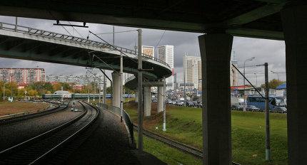 ТТК в районе Звенигородского шоссе в Москве