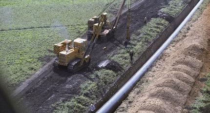 """Строительство газопровода """"Уренгой-Ужгород"""""""
