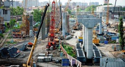 Строительство участка четвертого транспортного кольца