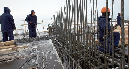 """Строительство нового стадиона """"Зенит"""" на Крестовском острове в Санкт-Петербурге"""