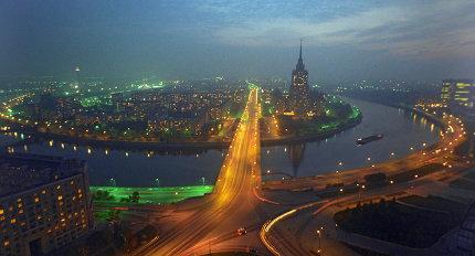 """Москва, панорама, гостиница """"Украина"""""""